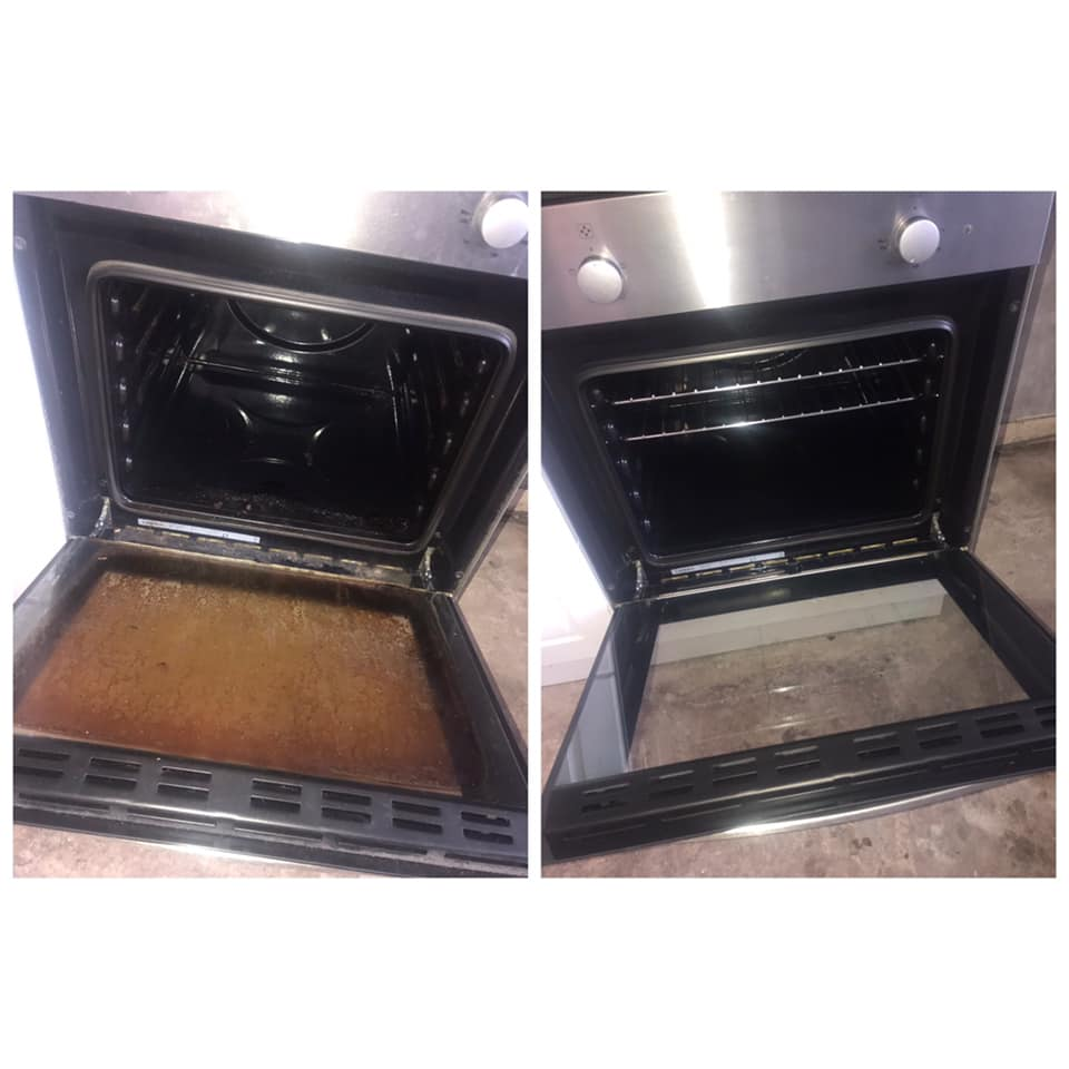 oven cleaning before job in bearsden